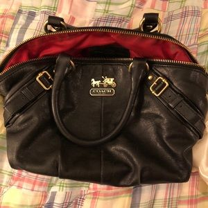 Black Coach purse and matching wallet combo.,